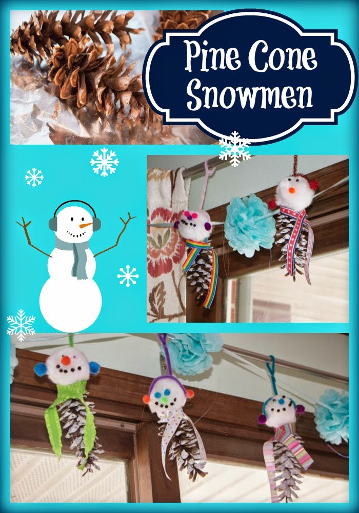 How to Make an Adorable Pine Cone Snowmen Craft