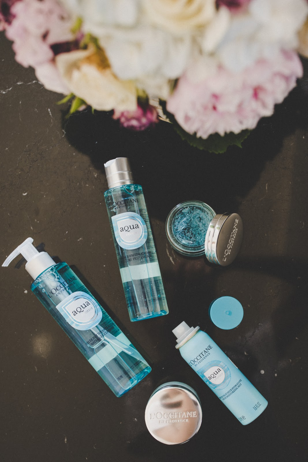 loccitane aqua reotier face care line review