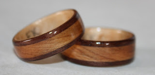 Black walnut, Sugar maple and Juniper heartwood rings