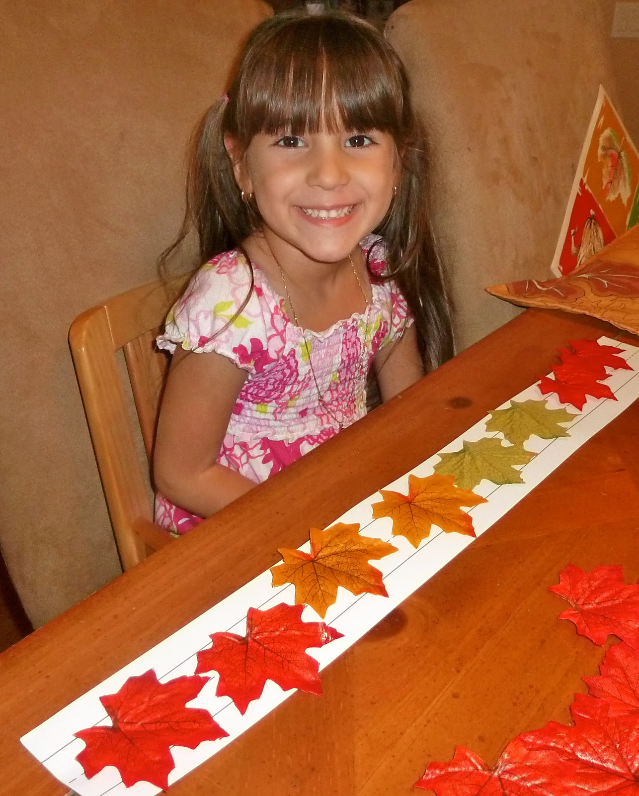 Fall Leaf Counting Mat