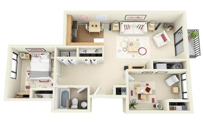 2+1 prefabrik ev projeleri