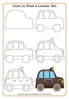 Cara Menggambar Mobil