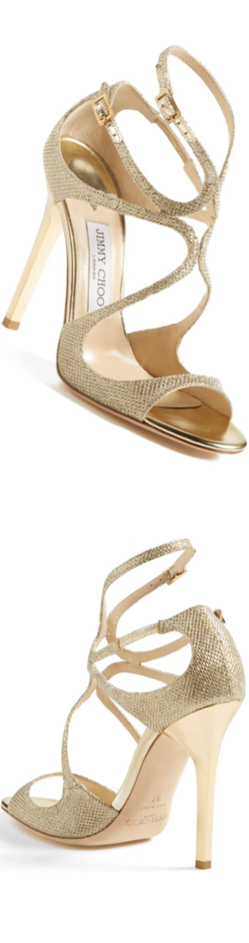 Jimmy Choo 'Lang' Sandal in Gold