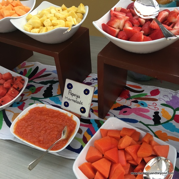 fresh fruit station at Four Seasons Resort Punta Mita in Mexico