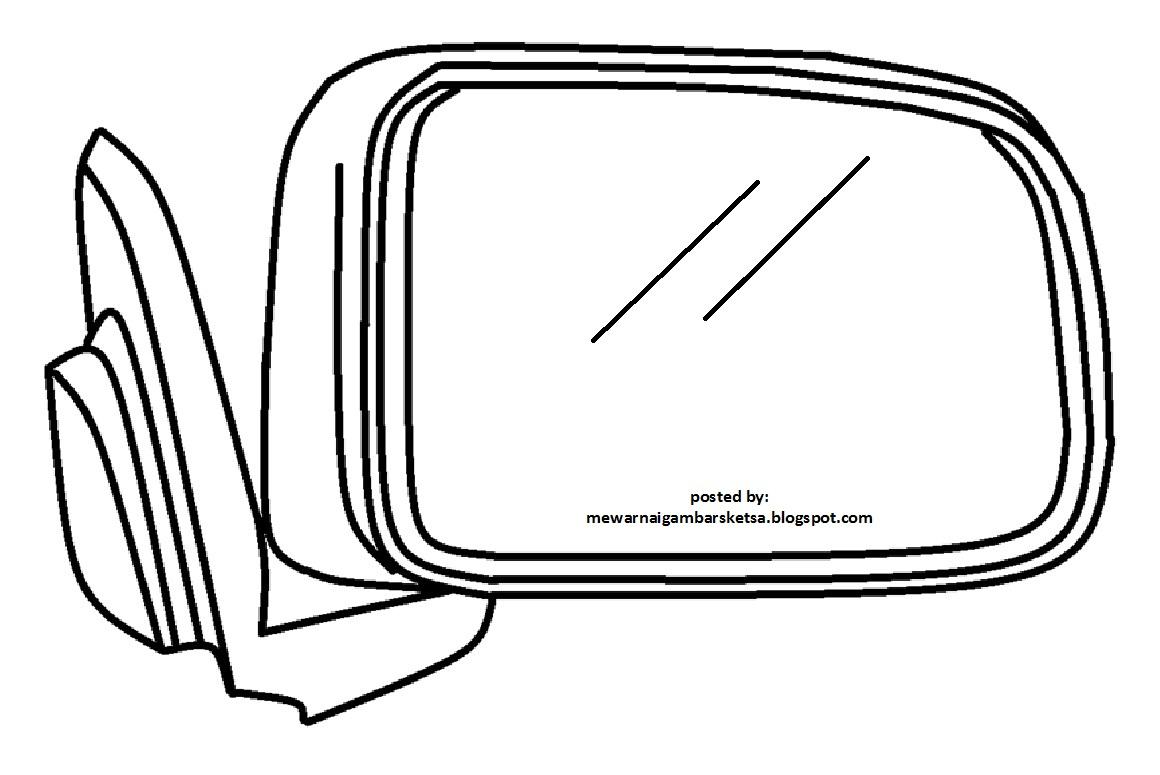 Mewarnai Gambar Sketsa Kaca Spion 1