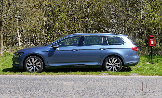 VW Passat estate side view