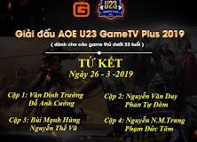 [AoE] Những cái tên có mặt tại vòng Tứ Kết giải đấu AoE U23 GameTV Plus 2019 đã...