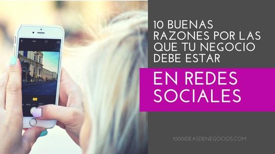su negocio en redes sociales