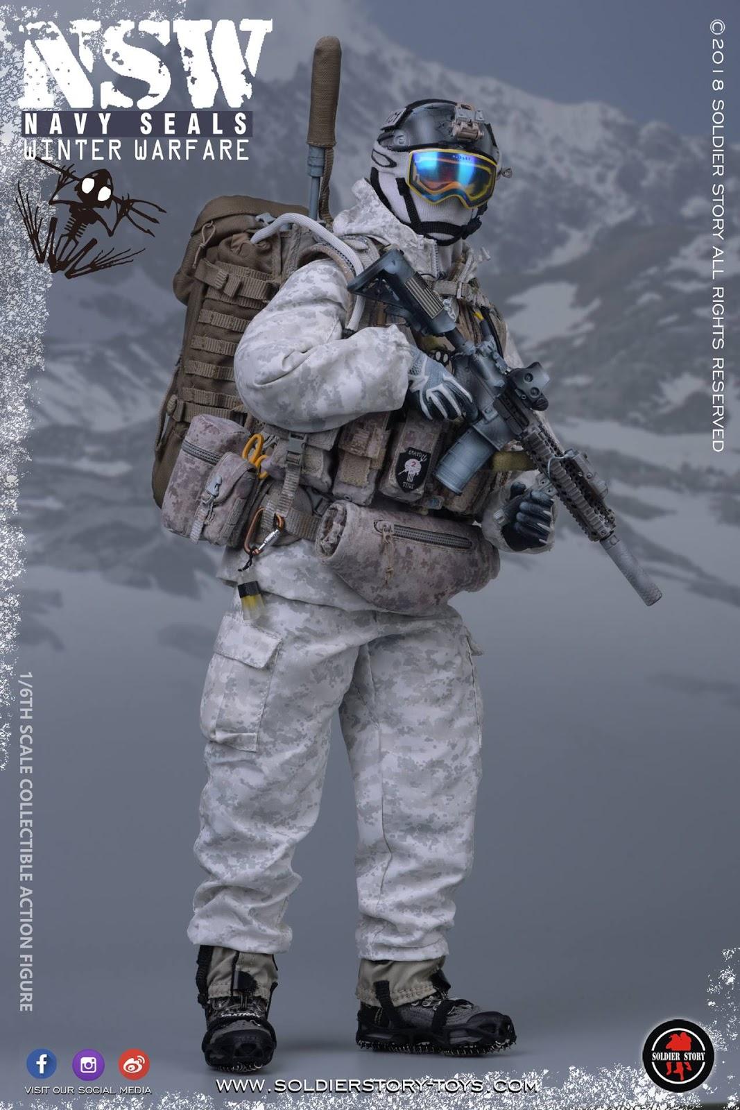 Tan Camo P226 Pistol Seal Team SF 1//6 Scale Mini Times Action Figures