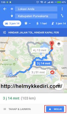 Cara menggunakan google maps pengendara motor7