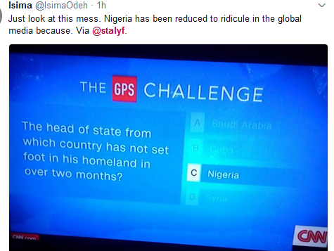 Buhari appears on CNN, see the question that was asked