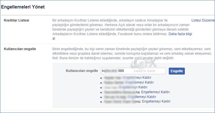 Facebook'da Profil Engelleme Nasıl Yapılır?  www.ceofix.com
