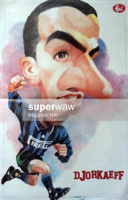 Poster Karikatur Djorkaef (Inter Milan)