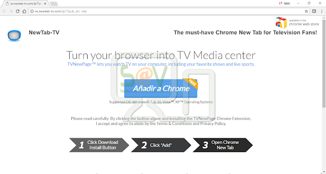 Newtab-tv.com pop-ups