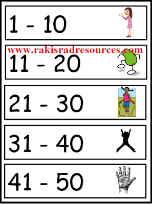 Free download - number aerobics poster from Raki's Rad Resources