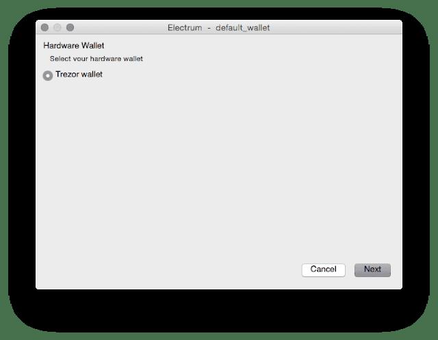Menggunakan TREZOR di Software Electrum