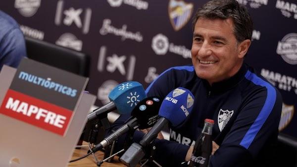 """Míchel - Málaga -: """"El equipo está bien, tomando un buen vuelo"""""""