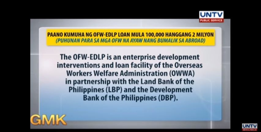 WATCHHow to Apply for OFW-EDLP Loan from P100K to P2 Million?