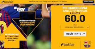 betfair supercuota champions Barcelona gana Tottenham 3 octubre