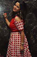 Shilpa Chakravarthy looks super cute in Red Frock style Dress 016.JPG