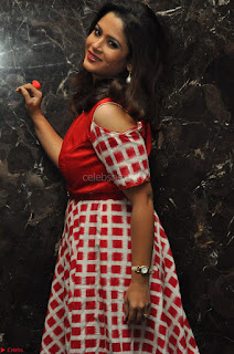 Shilpa Chakravarthy looks super cute in Red Frock style Dress 016.JPG