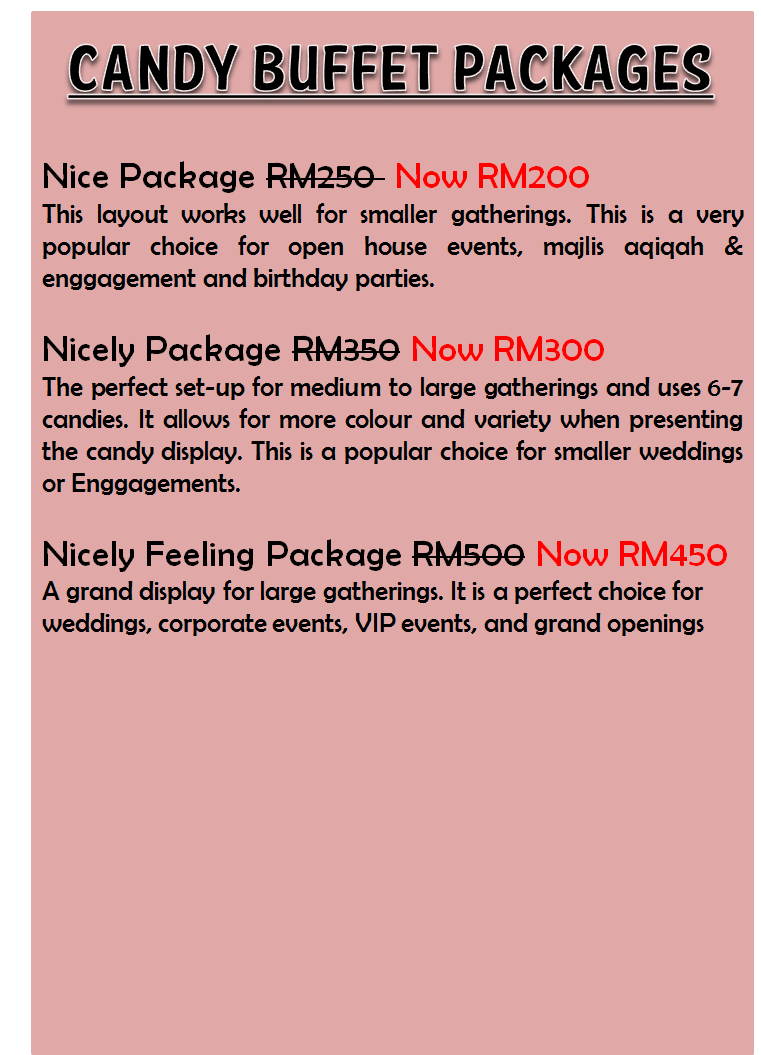 Candy Buffet Packages Nicely Feeling More Than Just