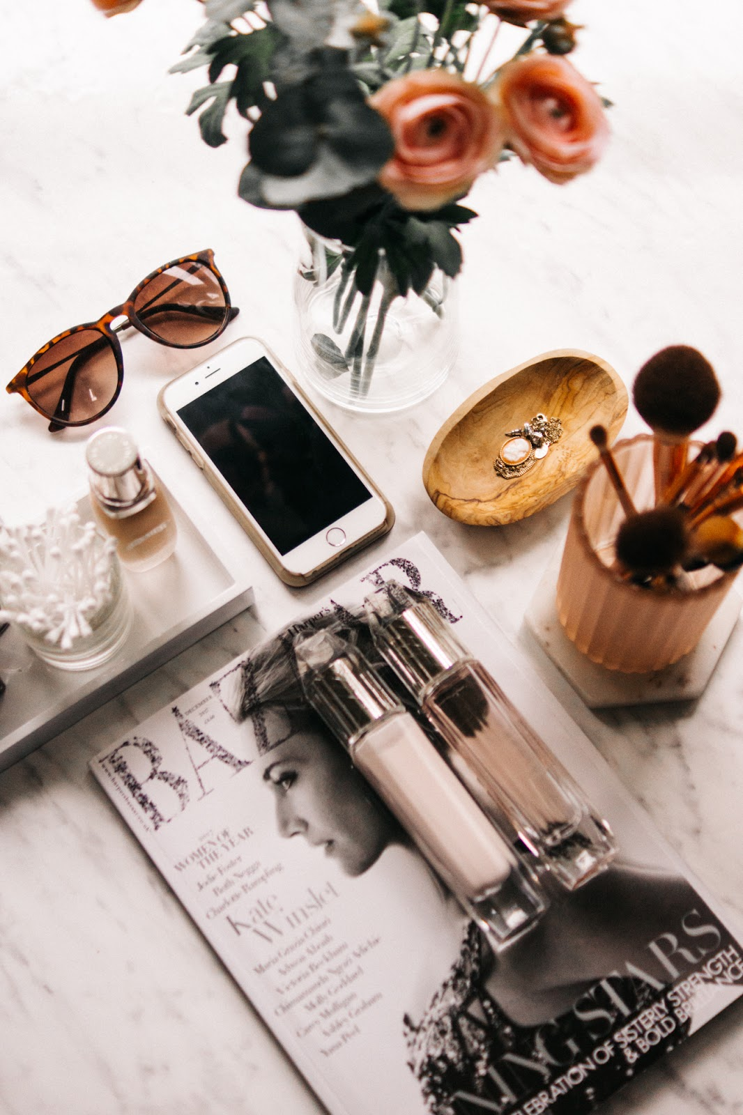 Lifestyle flatlay blog photography - Barely There Beauty