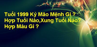 Xem Tuoi Ky Mao 1999