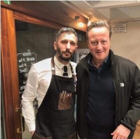 Valon Sadiku and David Cameron