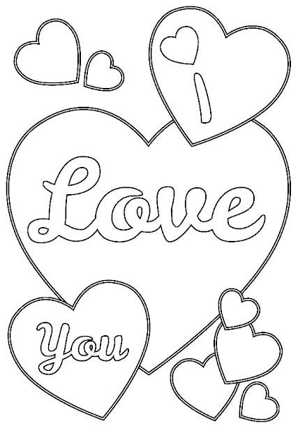 coloriage romantique pour la saint valentin