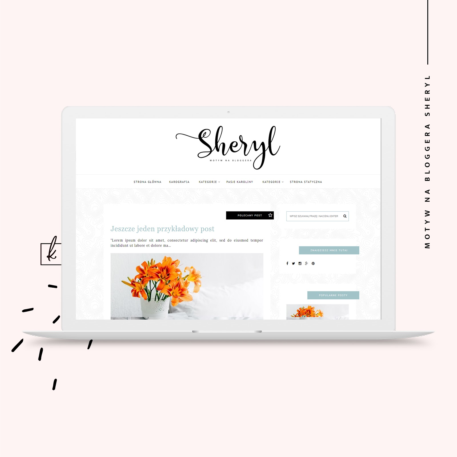 motyw na bloggera - SHERYL!  ♥