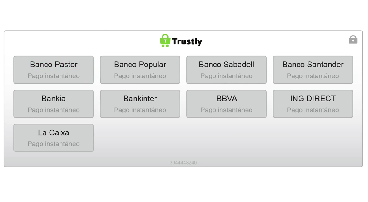 Trustly Account Deposit Screen