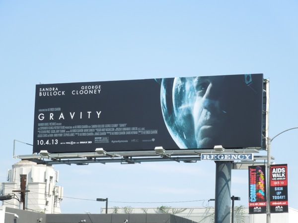 George Clooney Gravity movie billboard