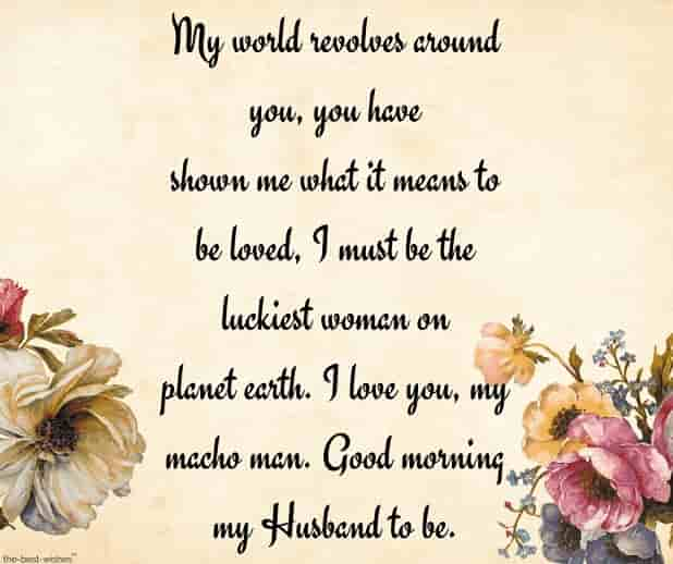 good morning love letters to my husband to be
