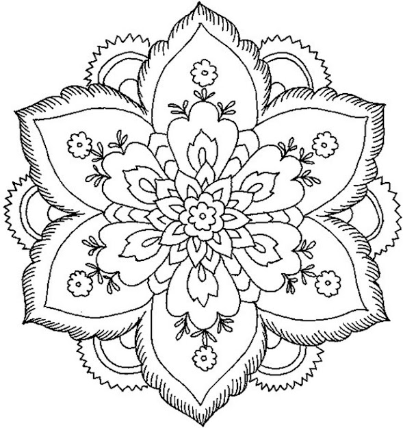 Mandala Coloring Pages With Abstract Mandalas  Easy Flower