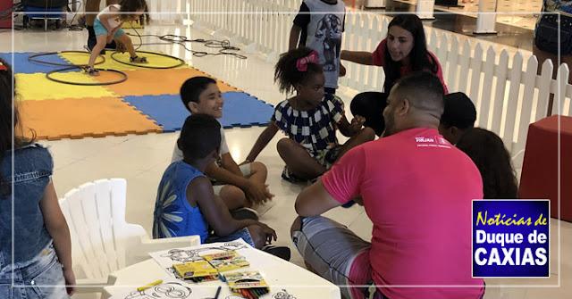 Colônia de Férias gratuita com apoio da Firjan SESI dia 12 de janeiro no Caxias Shopping