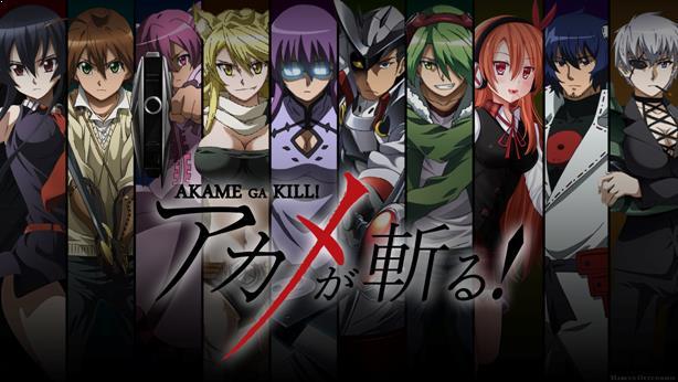 Top Sword Anime Series ( Where the Main Character Uses a Sword) - Akame ga Kill