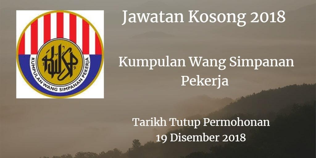 Jawatan Kosong KWSP 19 Disember 2018