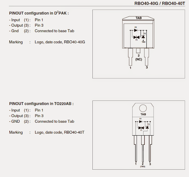 connection details of the proposed 40 amp diode with reverse and over voltage protection