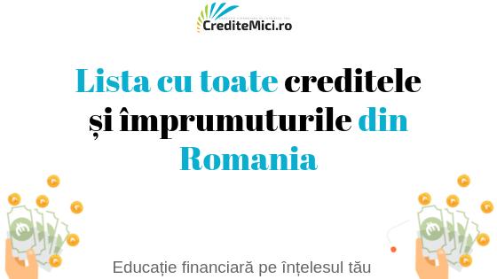 Credit și Împrumut în Roată România
