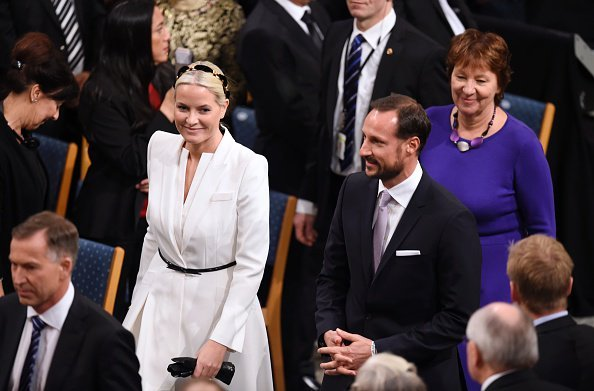 King Harald and Queen Sonja of Norway, Prince Haakon and his wife Crown Princess Mette-Marit of Norway attend for the Peace Prize