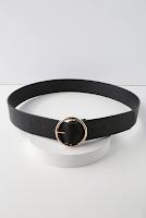 LuLus Arlee Black and Gold Belt