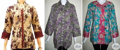model baju kerja batik untuk orang gemuk