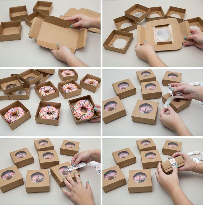 Kotak snack cantik untuk pernikahan