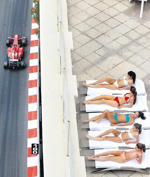 Yates, modelos y glamour en el Gran Premio de Mónaco de Formula Uno (F1)