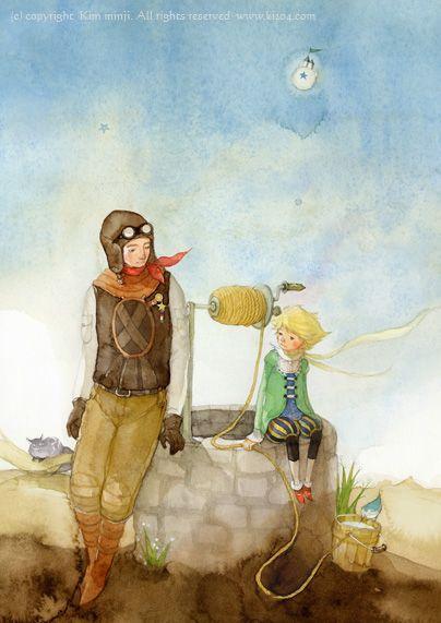 Resultado de imagen de el principito y el aviador en el desierto