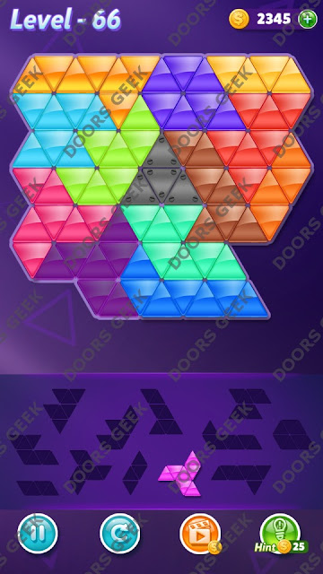 Block! Triangle Puzzle Grandmaster Level 66 Solution, Cheats, Walkthrough for Android, iPhone, iPad and iPod