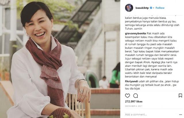 Kesedihan Netizen Tanggapi Isu Gugatan Cerai Ahok dan Veronica Tan