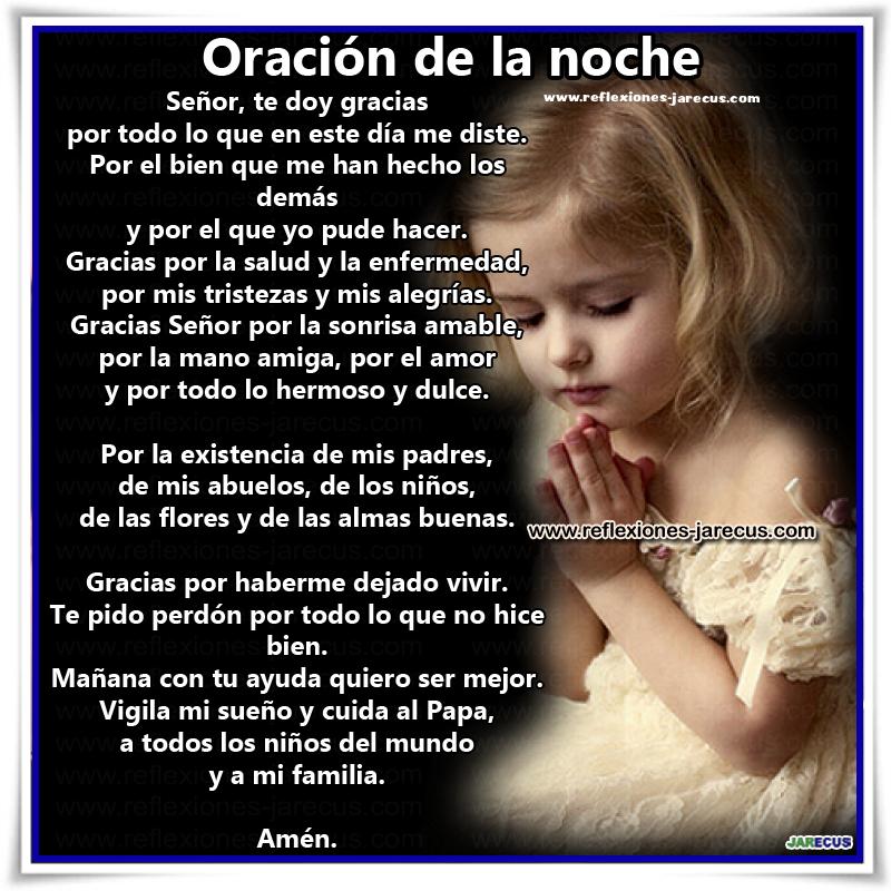 oracion, Oraciones, Oración de la noche