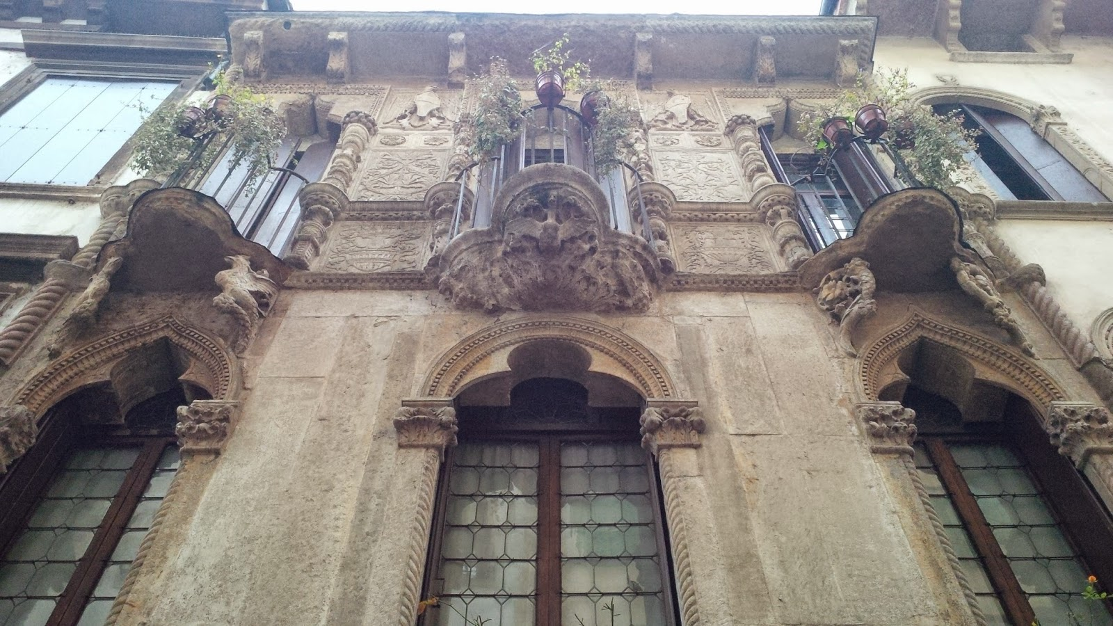 The facade of Antonio Pigafetta's house in Vicenza, Italy
